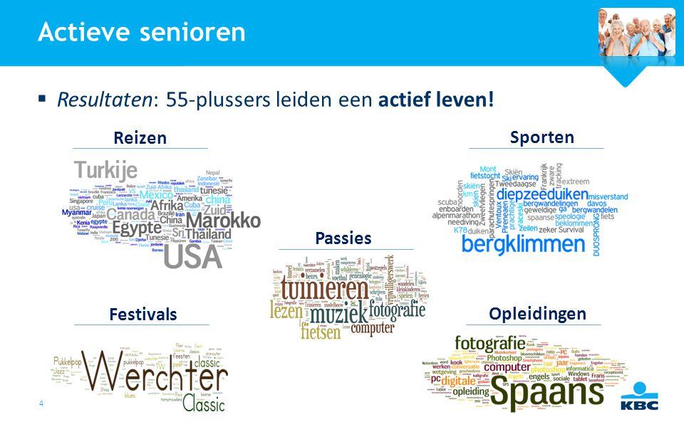 Actieve senioren Resultaten: 55-plussers leiden een actief leven!