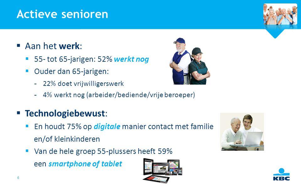 Actieve senioren Aan het werk: Technologiebewust: