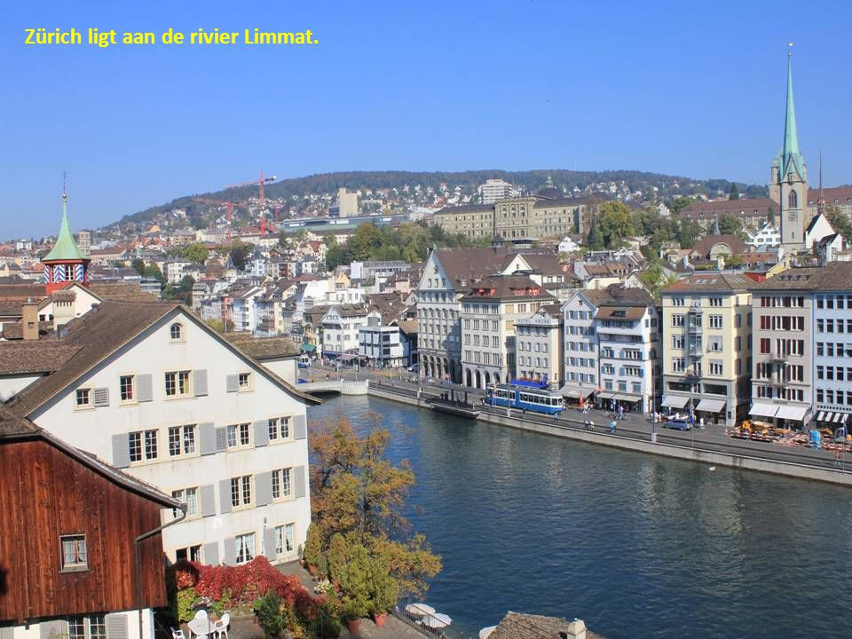 Zürich ligt aan de rivier Limmat.