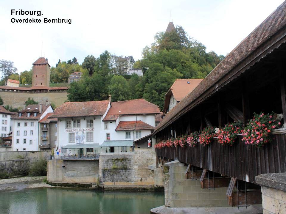 Fribourg. Overdekte Bernbrug