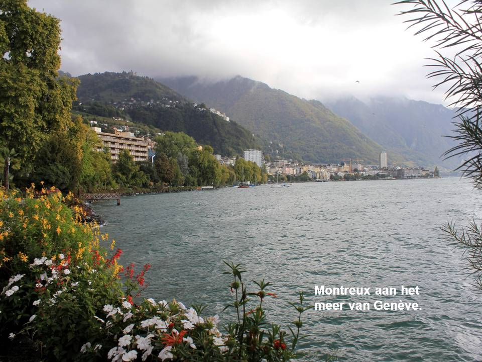 Montreux aan het meer van Genève.