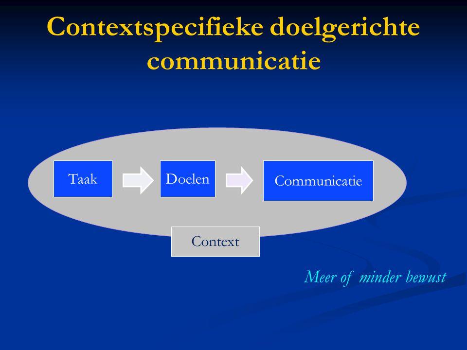 Contextspecifieke doelgerichte communicatie