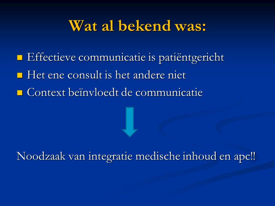 Wat al bekend was: Effectieve communicatie is patiëntgericht