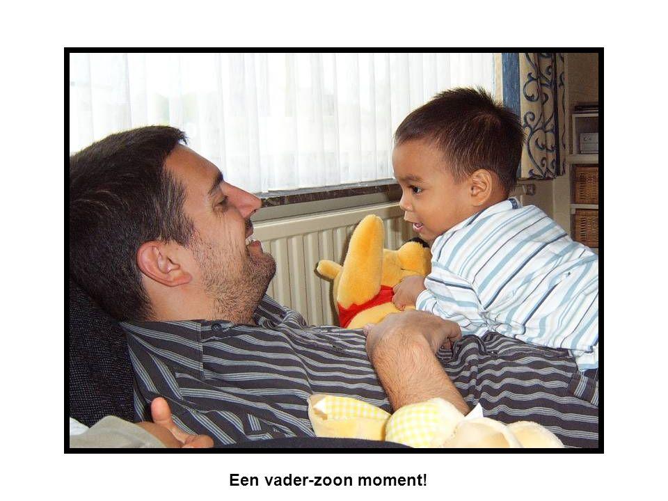 Een vader-zoon moment!