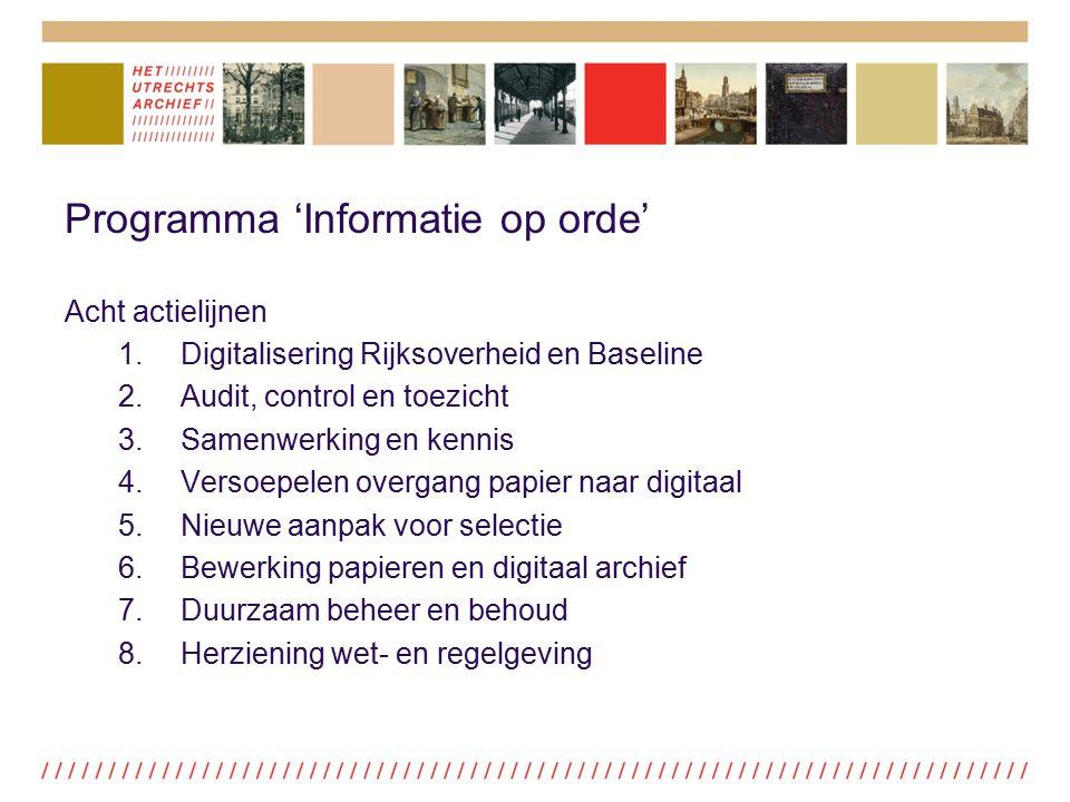 Programma 'Informatie op orde'