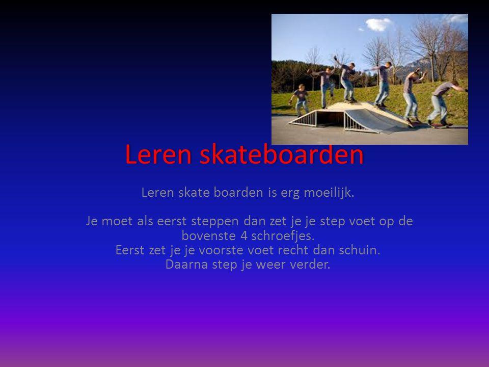 Leren skateboarden