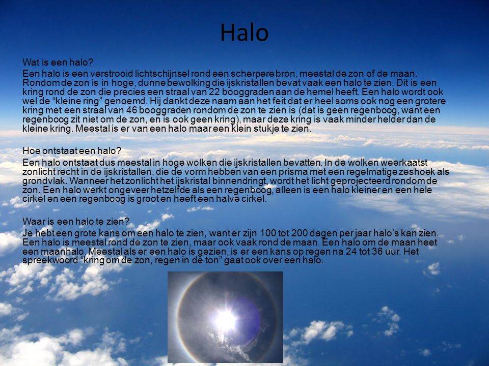 Halo Wat is een halo