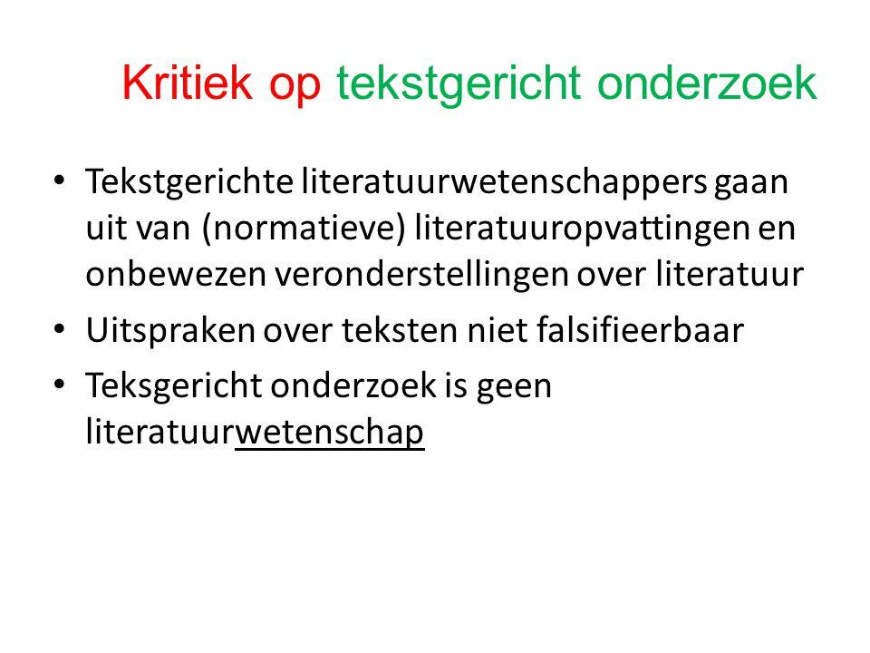Kritiek op tekstgericht onderzoek
