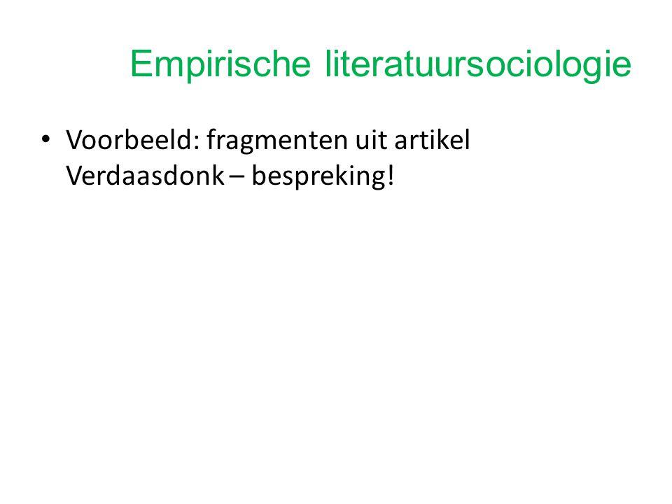 Empirische literatuursociologie