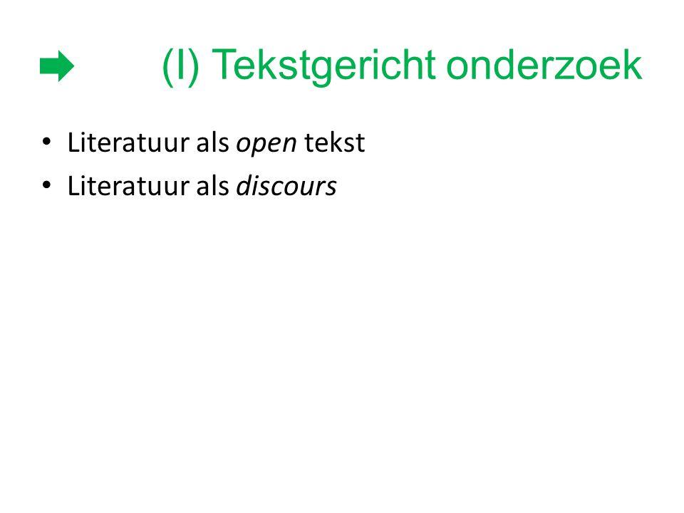 (I) Tekstgericht onderzoek