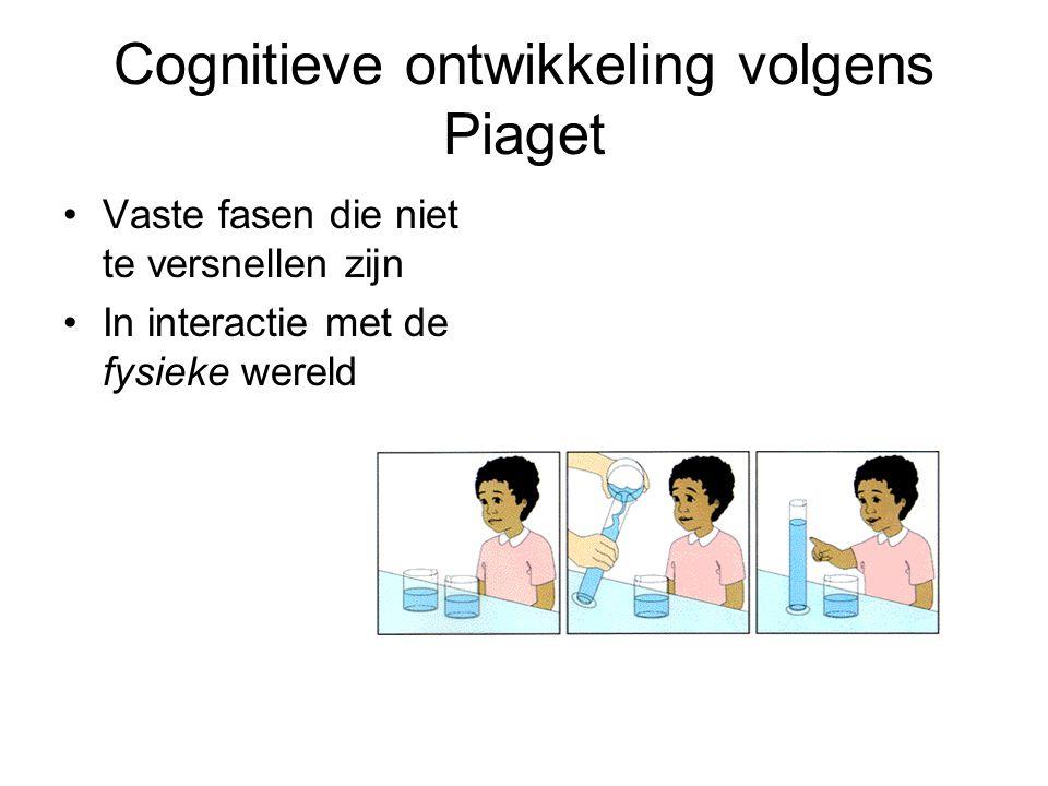 Cognitieve ontwikkeling volgens Piaget