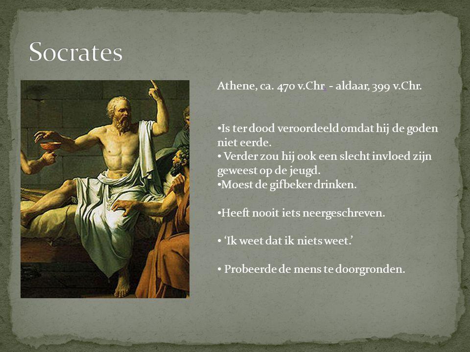 Socrates Athene, ca. 470 v.Chr. - aldaar, 399 v.Chr.