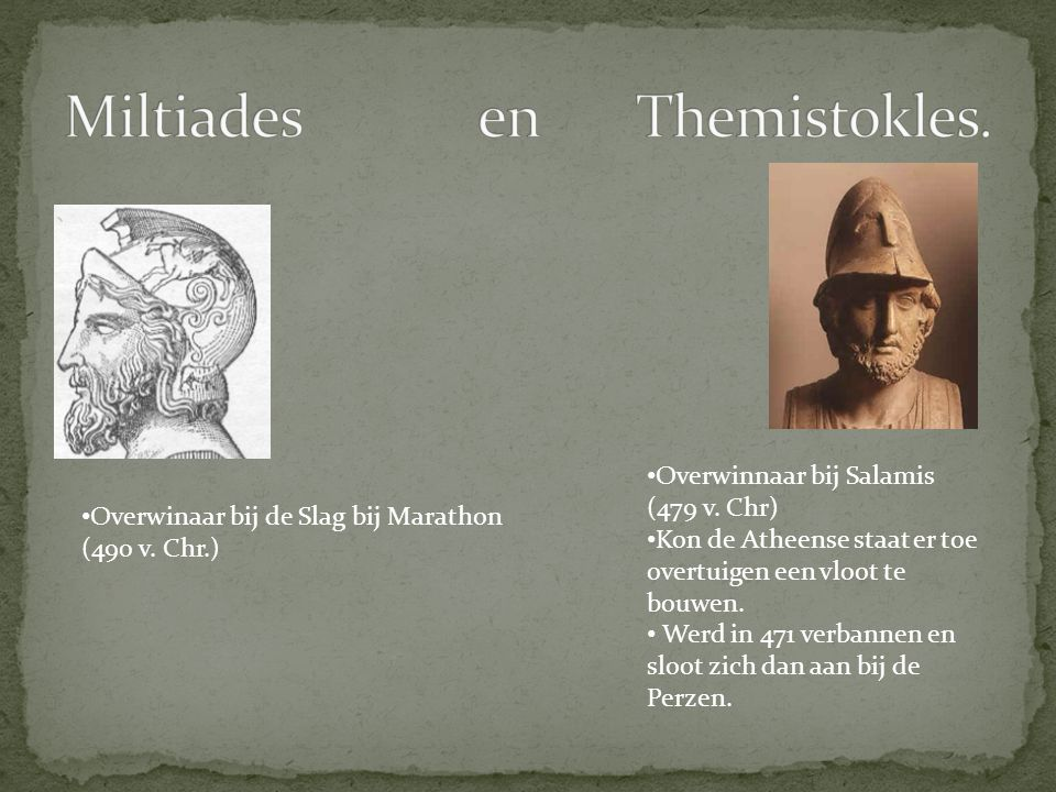Miltiades en Themistokles.
