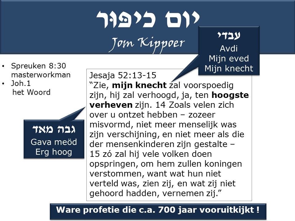 Ware profetie die c.a. 700 jaar vooruitkijkt !