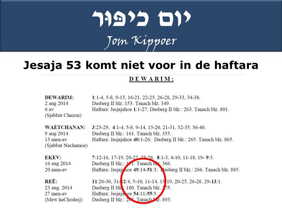Jesaja 53 komt niet voor in de haftara