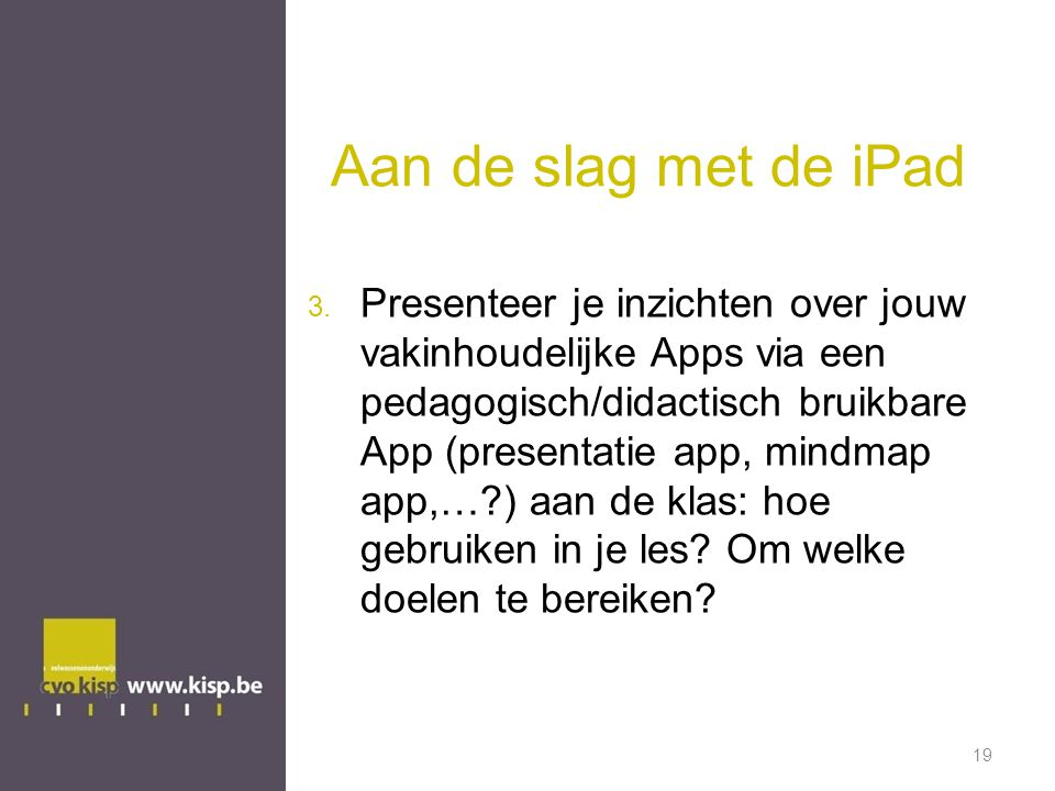 Aan de slag met de iPad