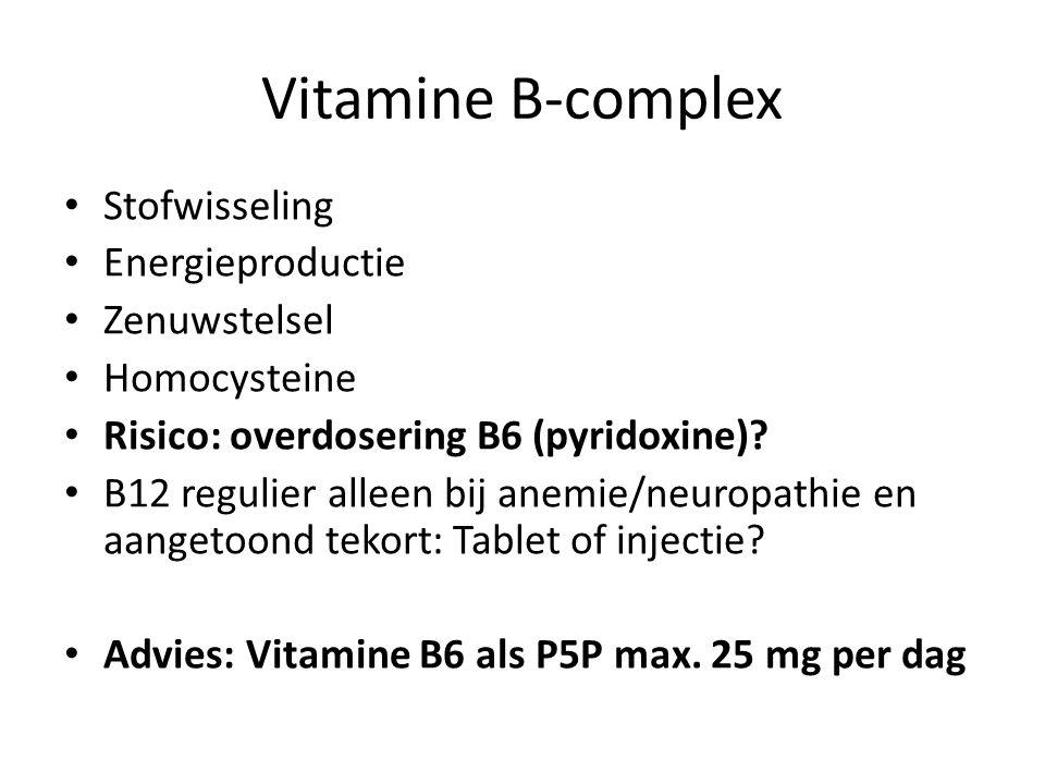 Vitamine B-complex Stofwisseling Energieproductie Zenuwstelsel
