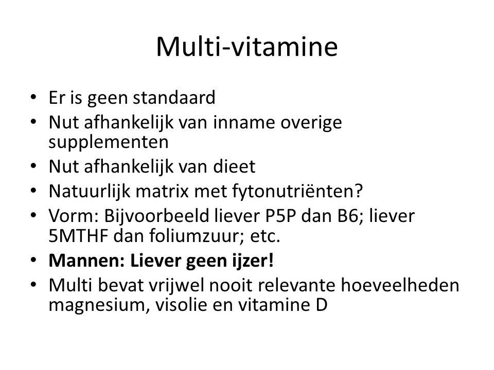Multi-vitamine Er is geen standaard