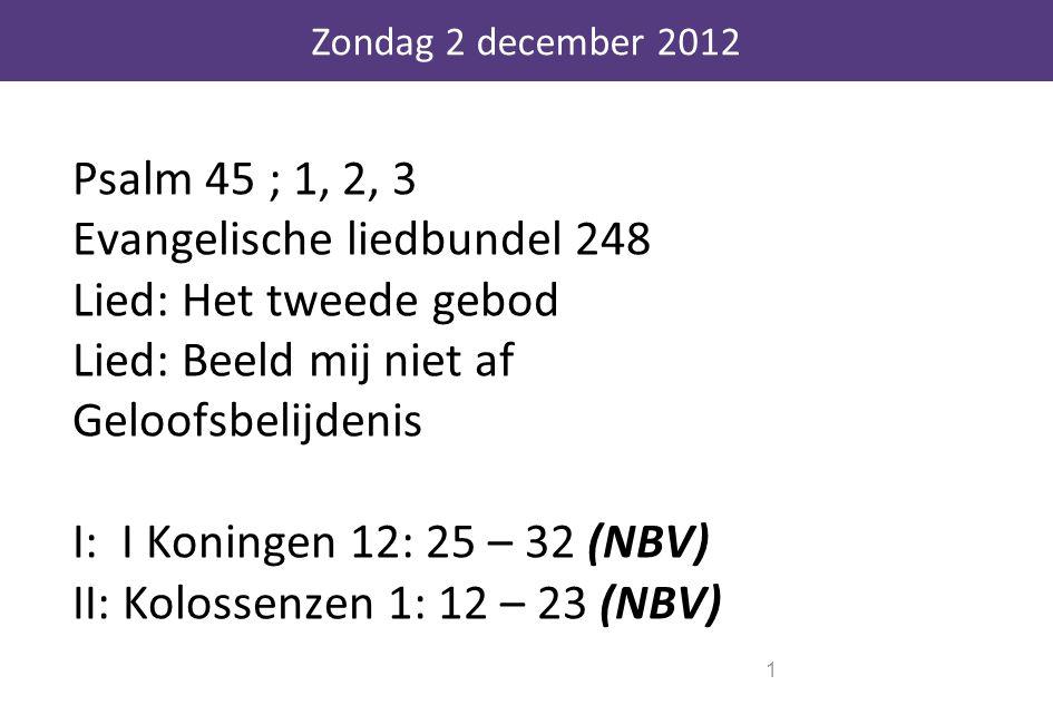 Zondag 2 december 2012