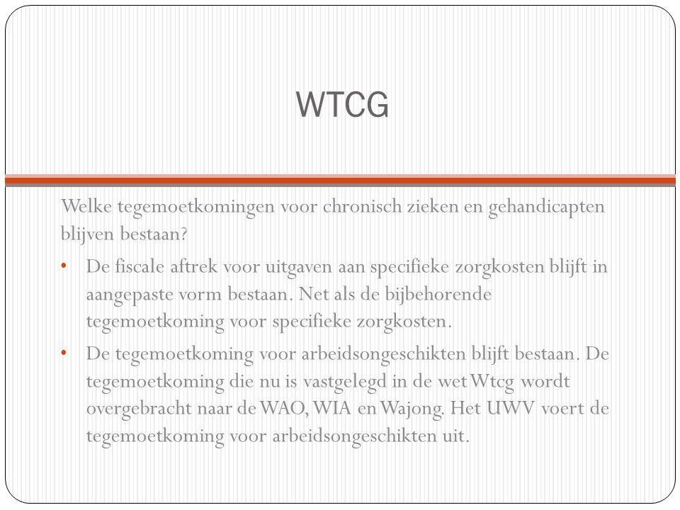 WTCG Welke tegemoetkomingen voor chronisch zieken en gehandicapten blijven bestaan