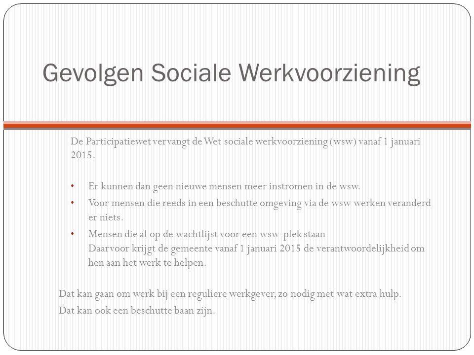 Gevolgen Sociale Werkvoorziening