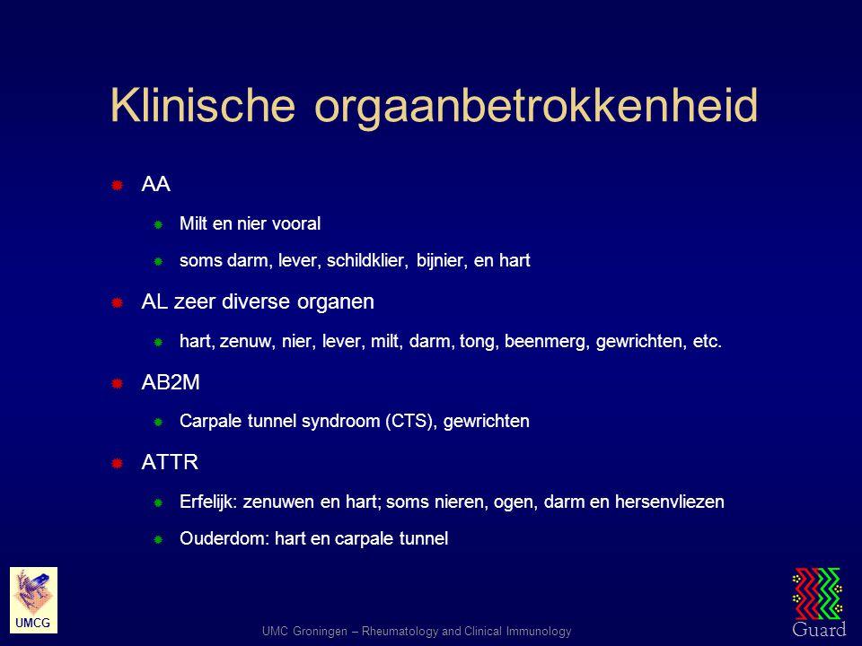 Klinische orgaanbetrokkenheid