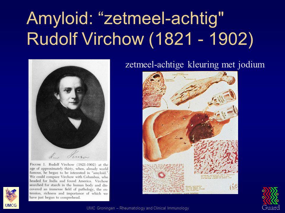 Amyloid: zetmeel-achtig Rudolf Virchow (1821 - 1902)