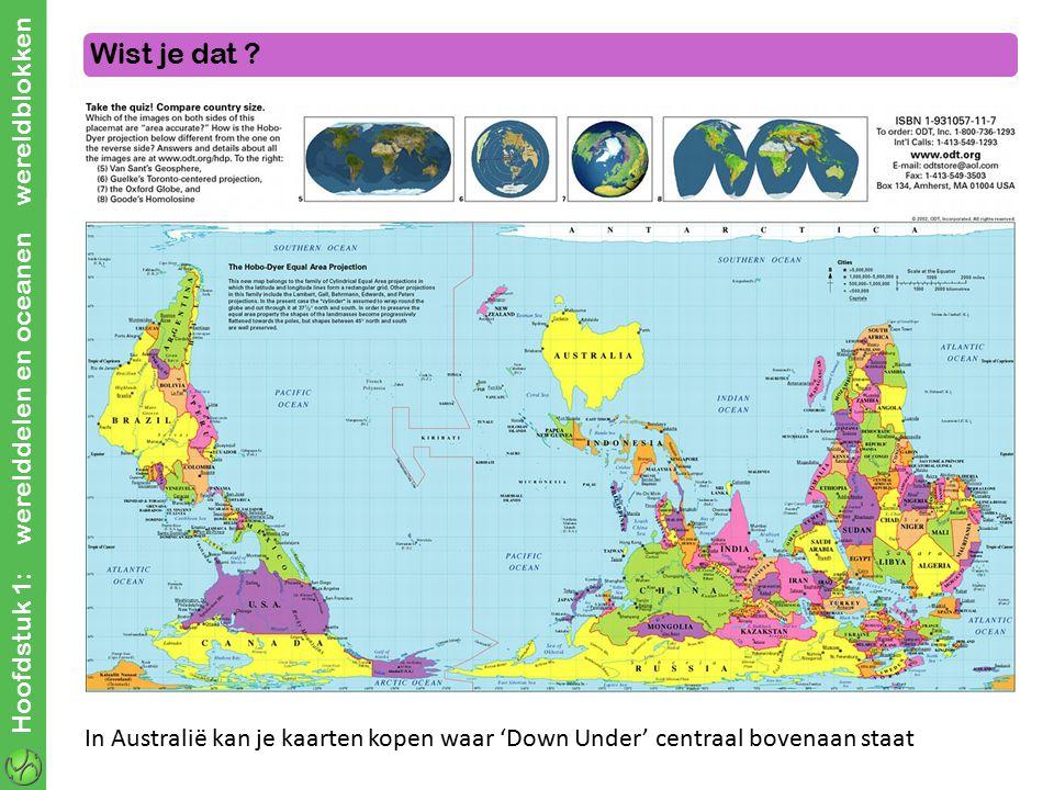 Wist je dat Hoofdstuk 1: werelddelen en oceanen wereldblokken