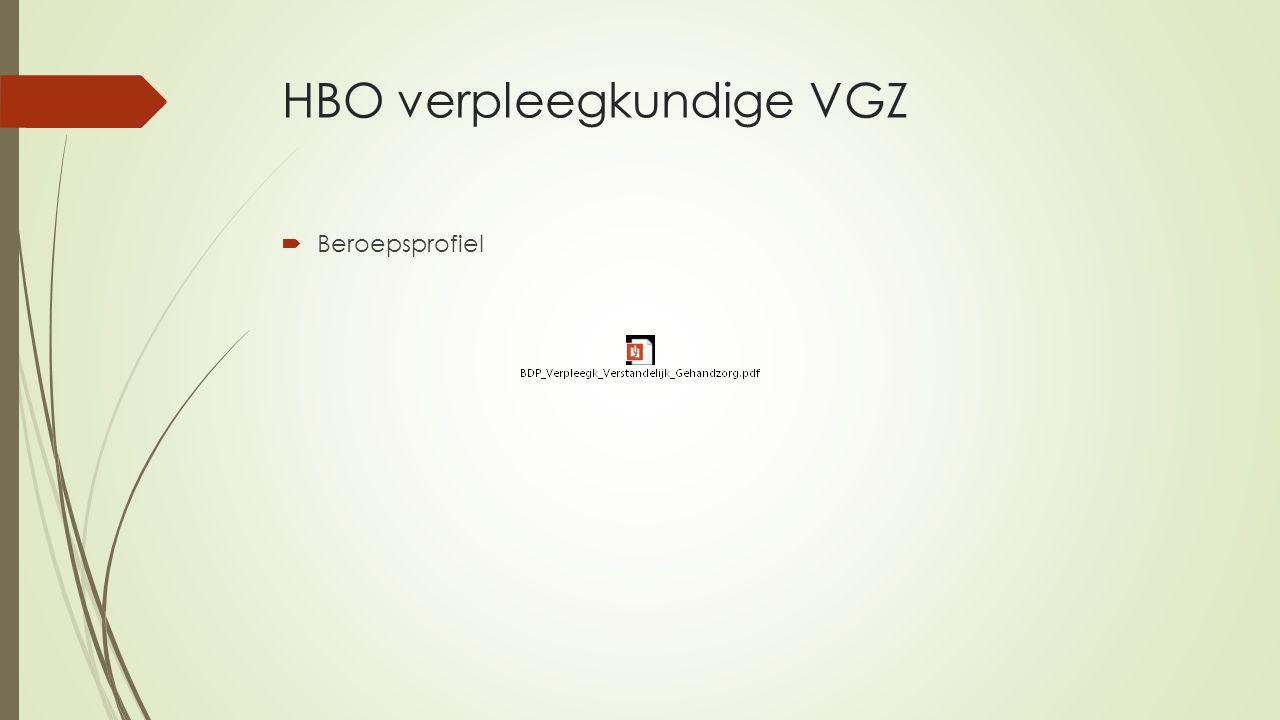 HBO verpleegkundige VGZ