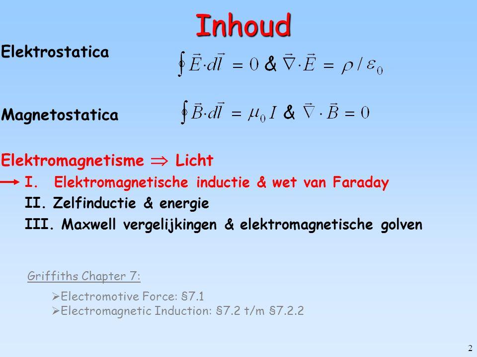 Inhoud Elektrostatica Magnetostatica Elektromagnetisme  Licht