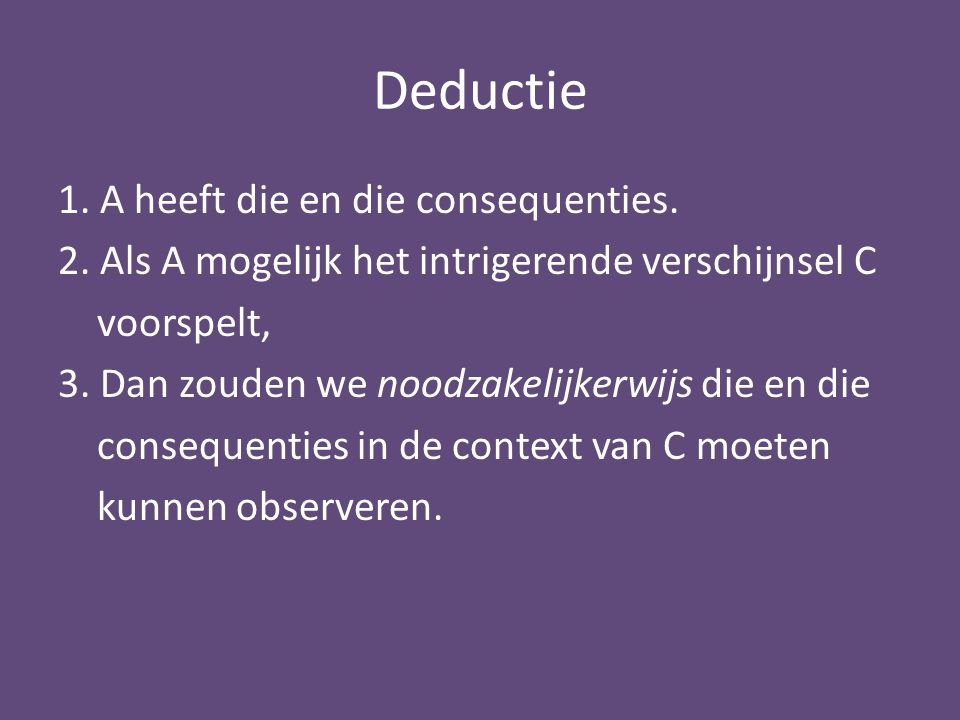 Deductie