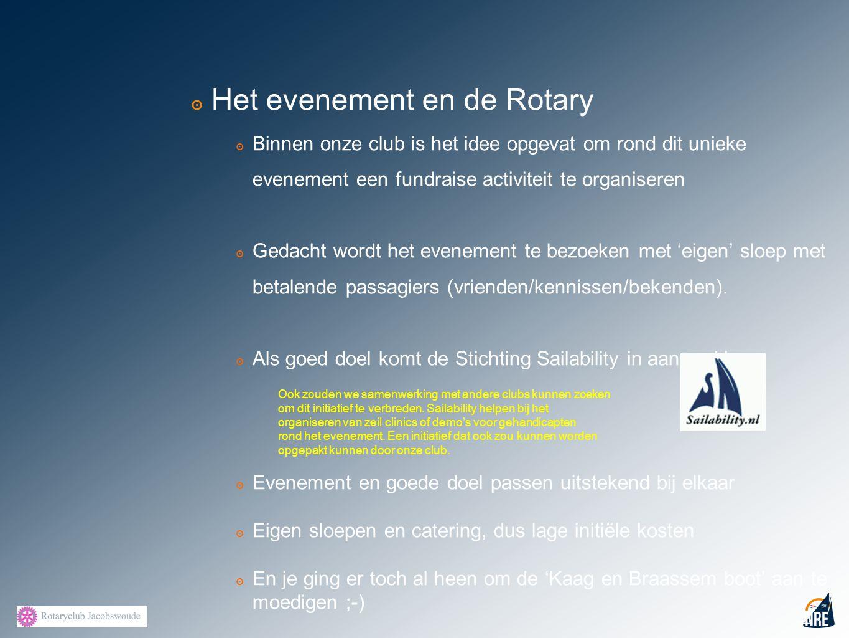 Het evenement en de Rotary