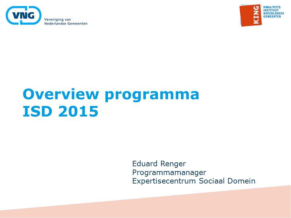 Overview programma ISD 2015