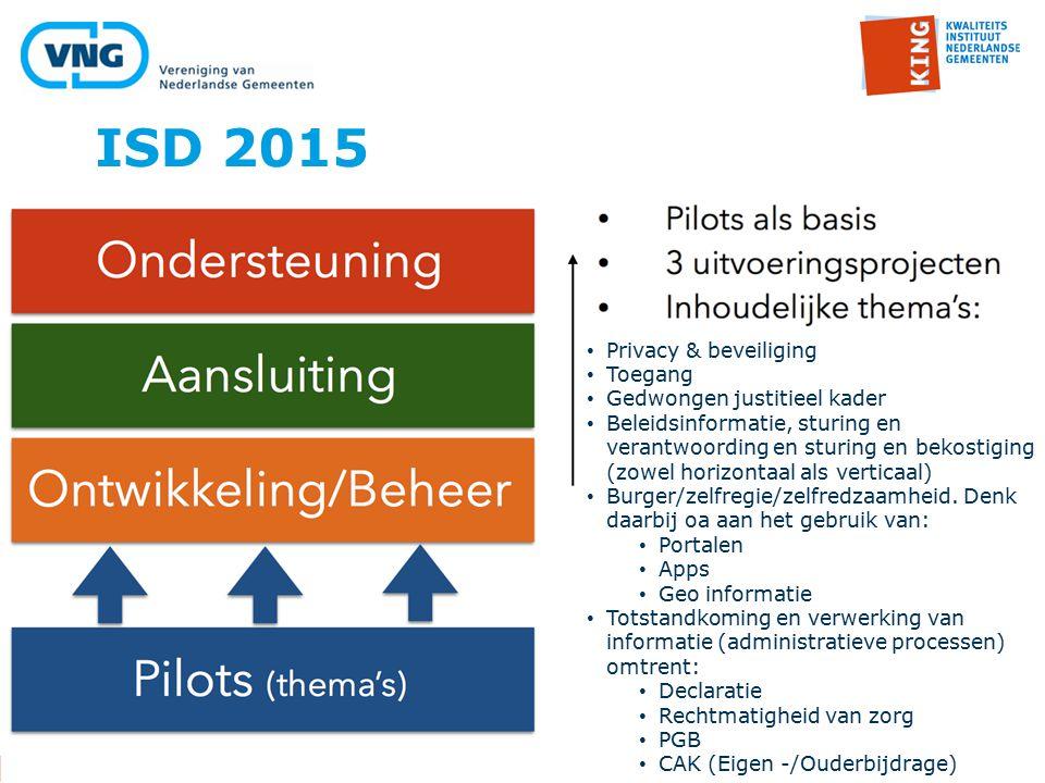 ISD 2015 Privacy & beveiliging Toegang Gedwongen justitieel kader