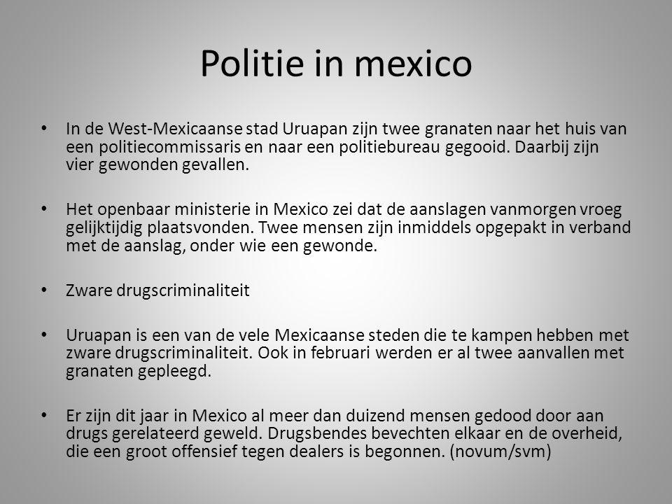 Politie in mexico