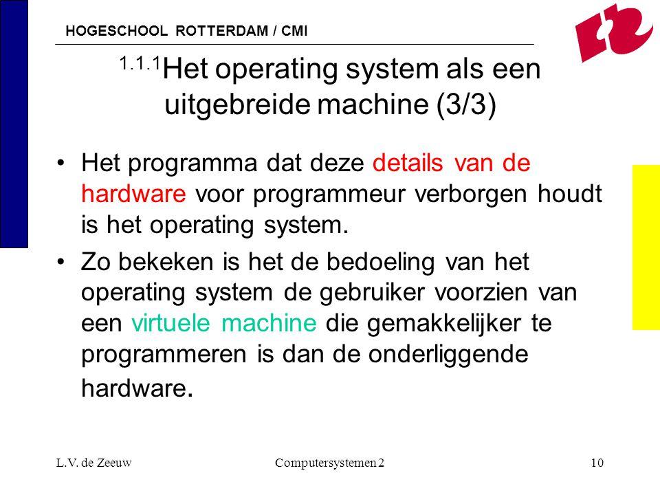 1.1.1Het operating system als een uitgebreide machine (3/3)