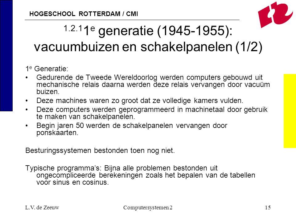 1.2.11e generatie (1945-1955): vacuumbuizen en schakelpanelen (1/2)