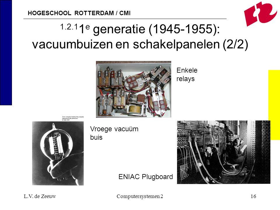 1.2.11e generatie (1945-1955): vacuumbuizen en schakelpanelen (2/2)
