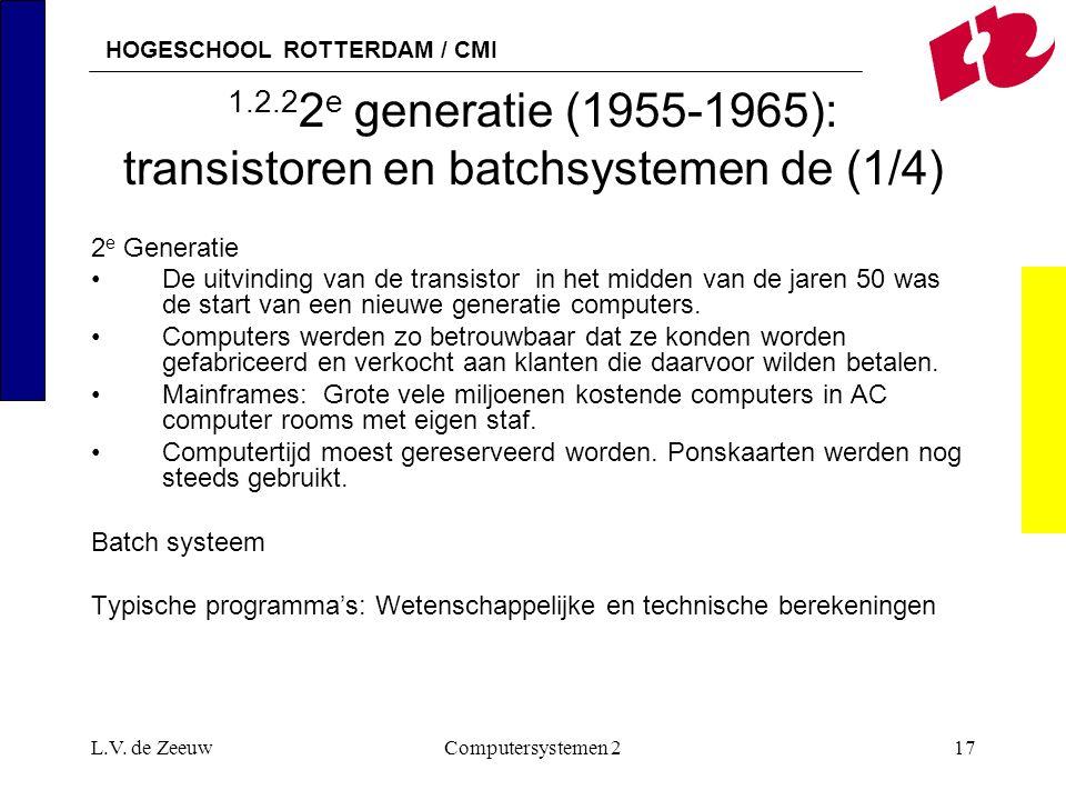 1.2.22e generatie (1955-1965): transistoren en batchsystemen de (1/4)