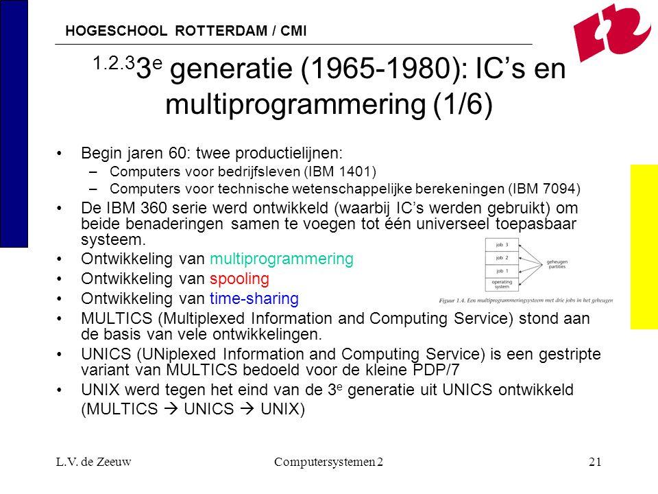 1.2.33e generatie (1965-1980): IC's en multiprogrammering (1/6)
