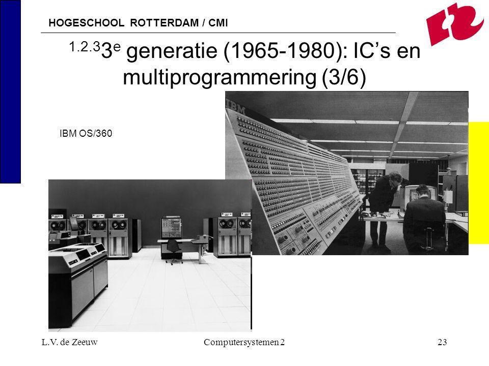 1.2.33e generatie (1965-1980): IC's en multiprogrammering (3/6)