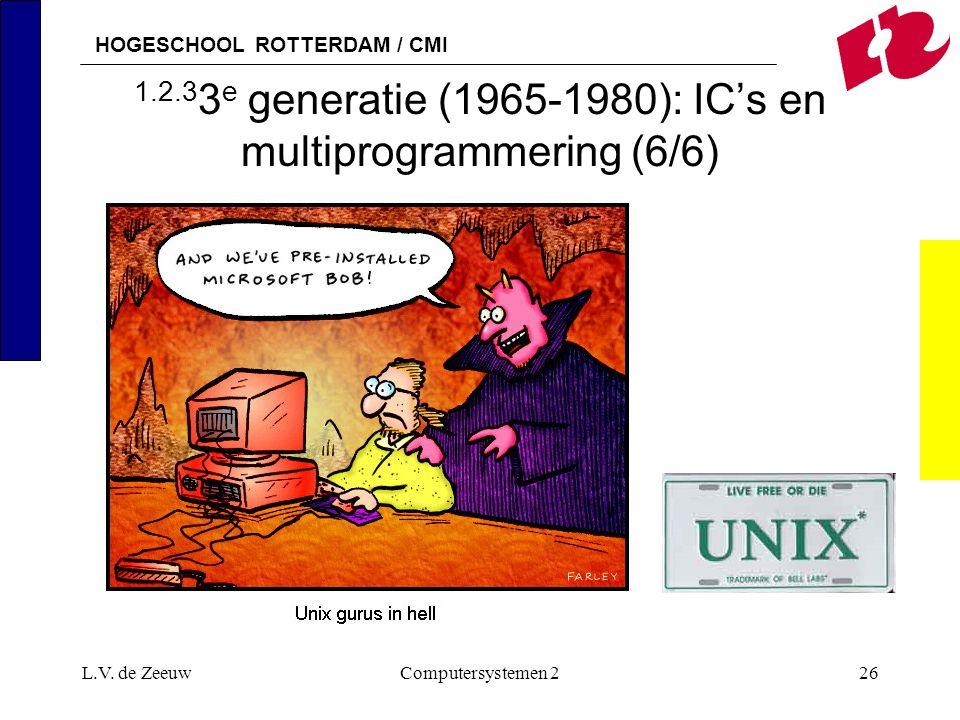 1.2.33e generatie (1965-1980): IC's en multiprogrammering (6/6)