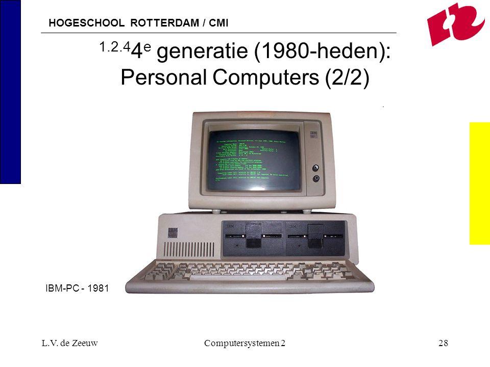 1.2.44e generatie (1980-heden): Personal Computers (2/2)