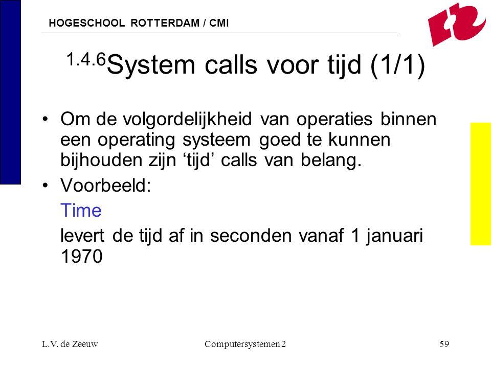 1.4.6System calls voor tijd (1/1)