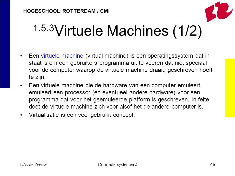 1.5.3Virtuele Machines (1/2)