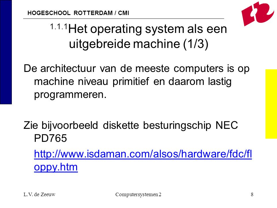 1.1.1Het operating system als een uitgebreide machine (1/3)