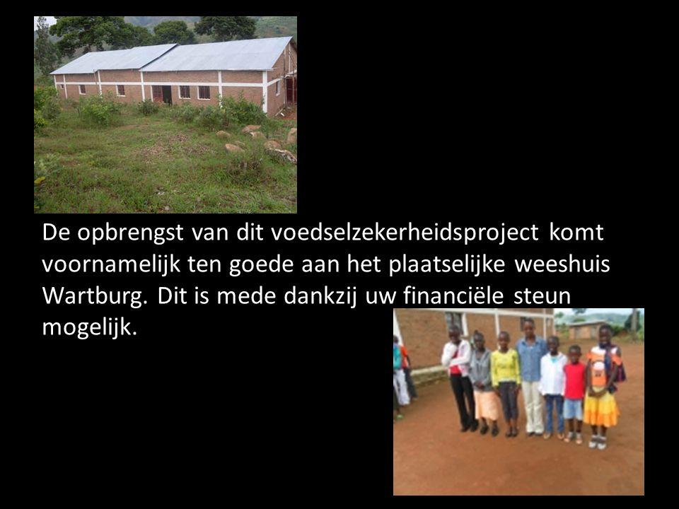 De opbrengst van dit voedselzekerheidsproject komt voornamelijk ten goede aan het plaatselijke weeshuis Wartburg.
