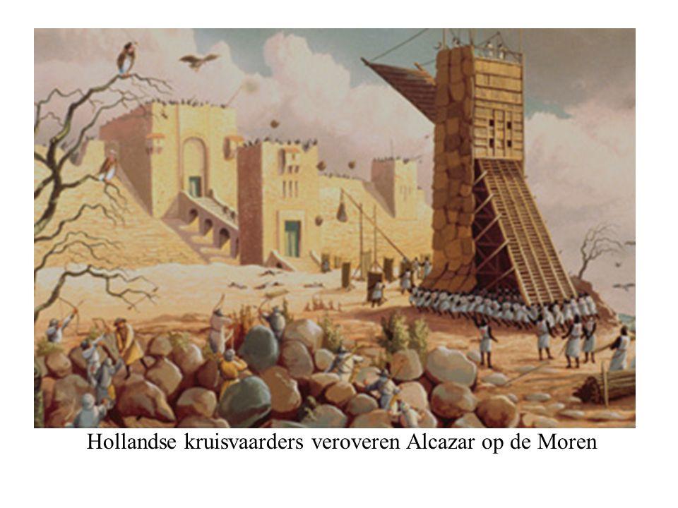 Hollandse kruisvaarders veroveren Alcazar op de Moren