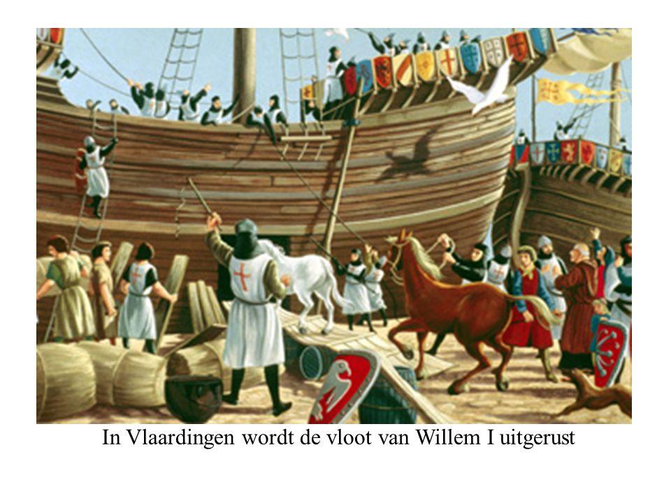 In Vlaardingen wordt de vloot van Willem I uitgerust