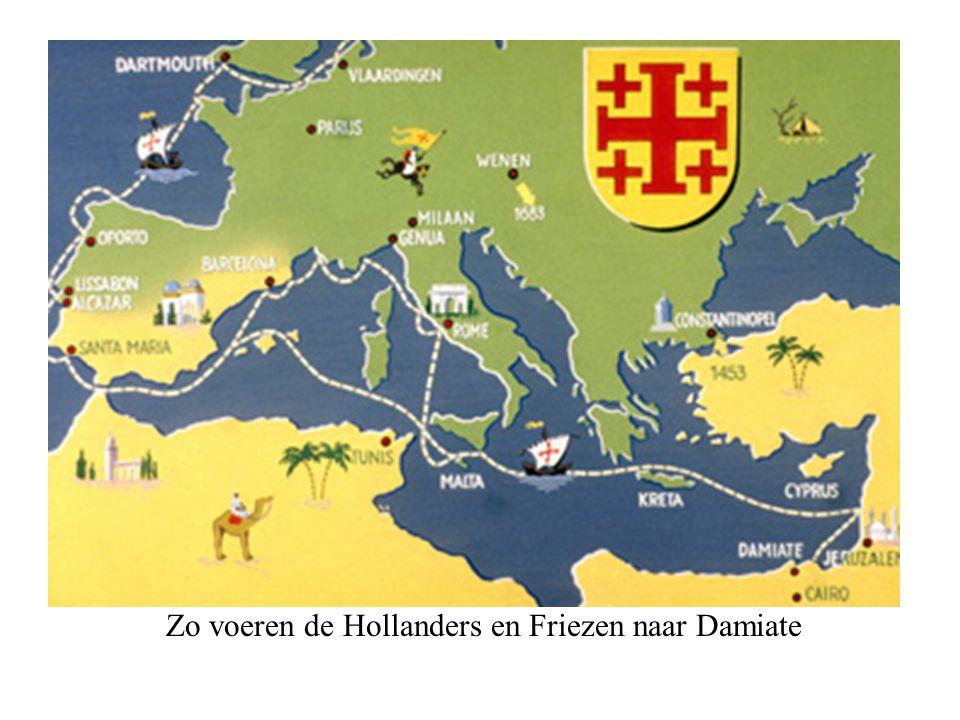 Zo voeren de Hollanders en Friezen naar Damiate